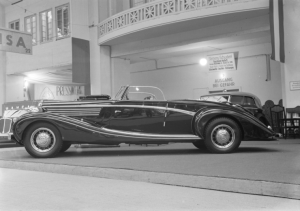 A photograph of a Maybach car, taken by Zoltan Glass in 1936