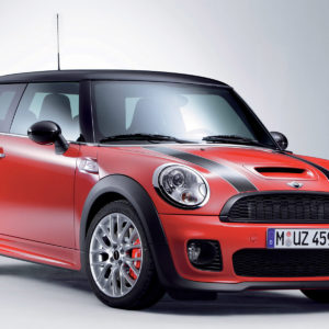 Red Mini car