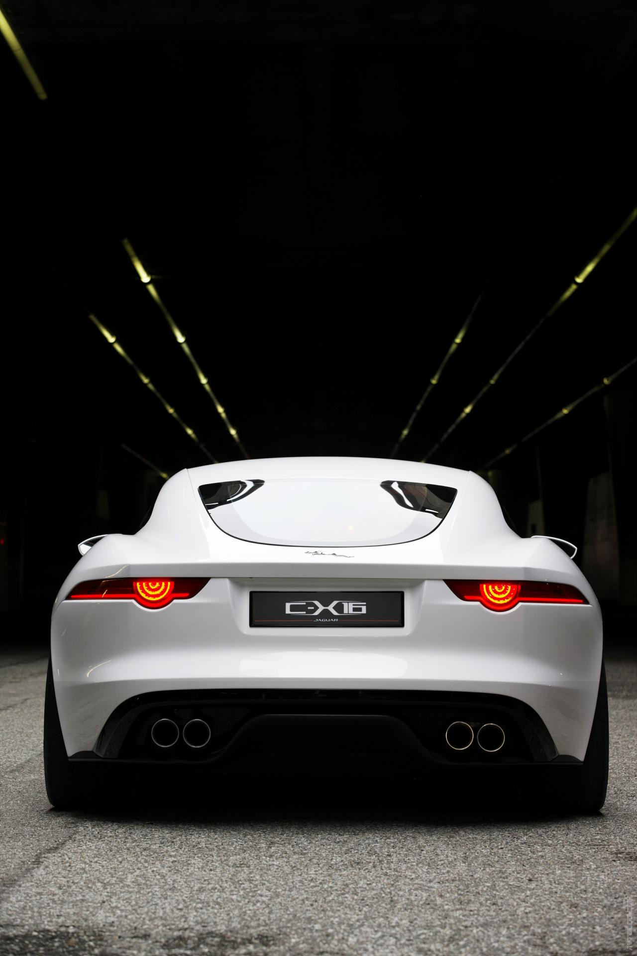 White car Jaguar C X16 Concept (2011) 1