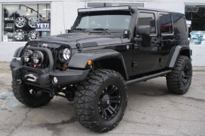 Black Jeep Wrangler Unlimited Rubicon
