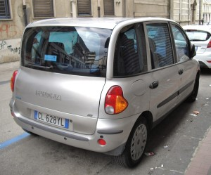 Fiat Multipla Silver car