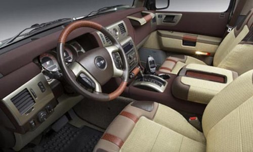 Good looking interior of Hummer H3T