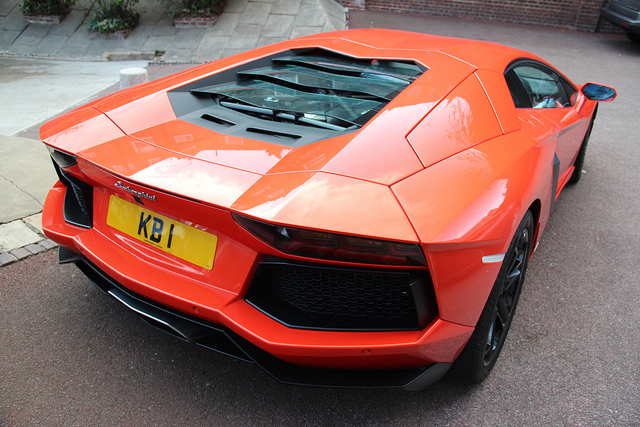 Orange Lamborghini Aventador