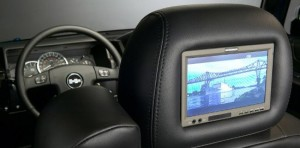 Rear seat DVD screen in Hummer H3T