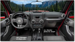 Jeep Wrangler 2011 interiors
