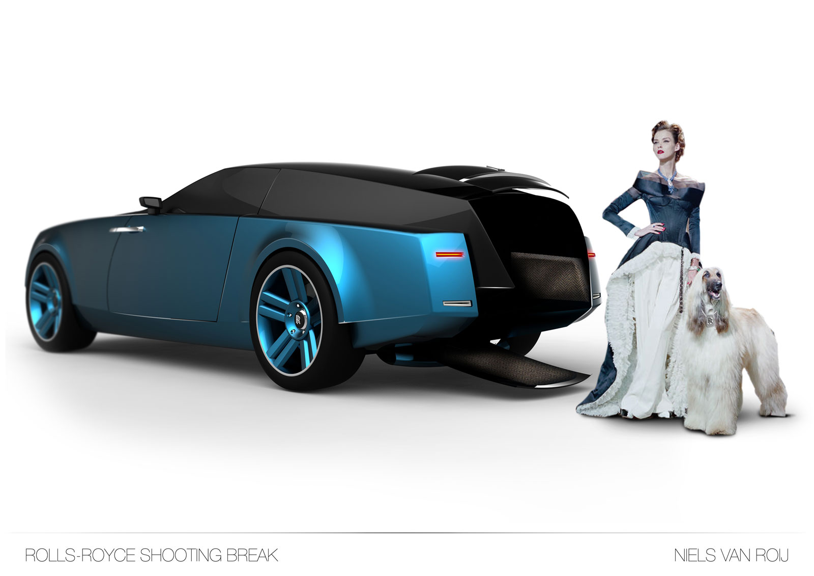 Rolls Royce car with Royal college of Art blue 20