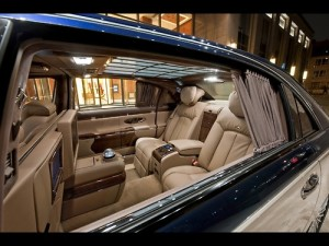 Amazing interior of a Maybach