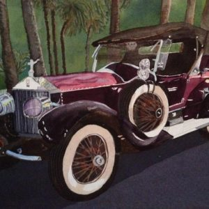 Vintage Rolls Royce Painting by Mary Zwirn