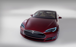Beautiful Tesla S Model car
