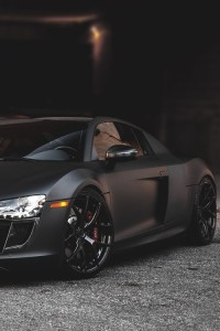 Audi R8 in matt black