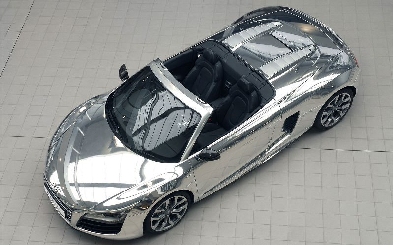 Chrome Audi R8 - view from top 14