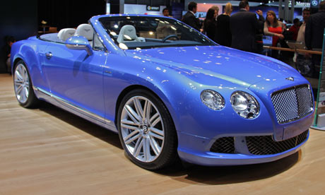 A 2014 Bentley car on display at the 113th New York Auto Show.