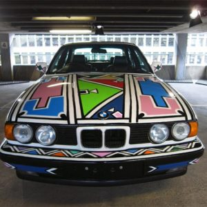 BMW art car 525i' by esther mahlangu, 1991.