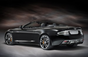 Aston Martin DBS Carbon edition rear. The magnesium alloy paddles