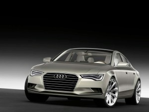Audi A7 Sportback Concept Car Getting Revealed At The 2009 Detroit Auto Show