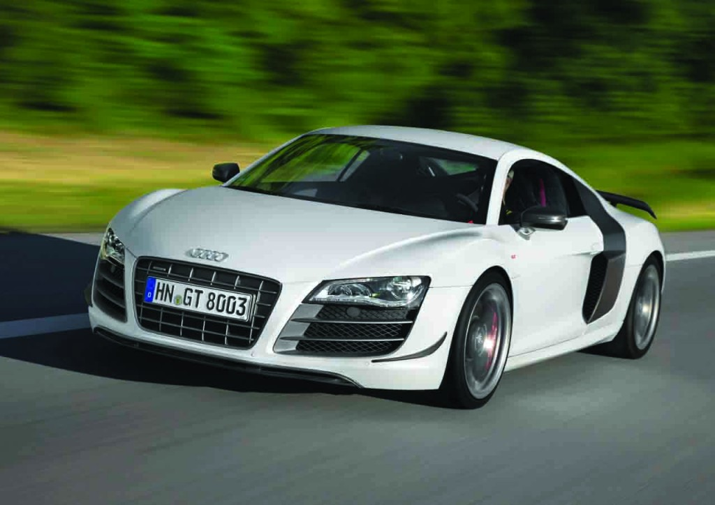 The 2012 Audi R8 GT Coupe is a 2-door luxury sports car  25