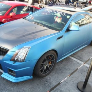 #Blue Cadillac CTS-V Coupe