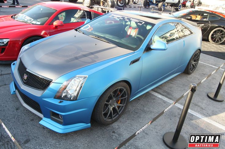 #Blue Cadillac CTS-V Coupe 25
