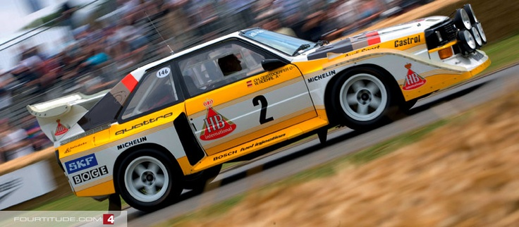 Audi Sport quattro S1 Group B rally car.