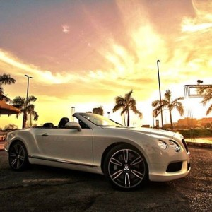 Mesmerizing shot! Bentley in a beautiful sunset
