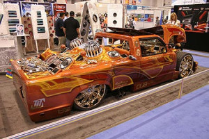 Car with crazy modifications