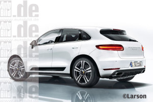 macan white rear side