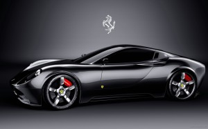 Black Ferrari Car