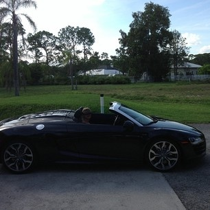 roof down suns out best time for a cruise! #AudiR8