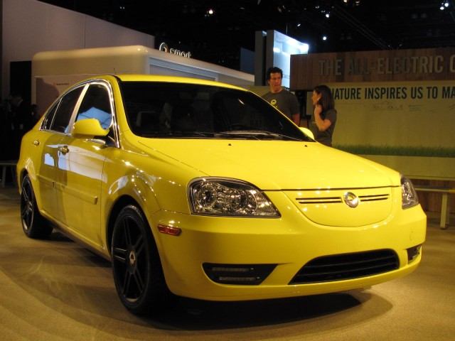 Coda yellow model electric car 6