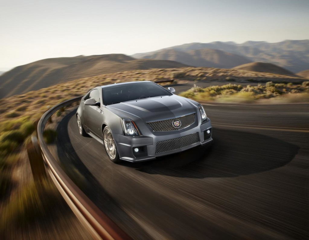 Cadillac CTS-V Coupe Silver Frost Stealth Blue Edition 1
