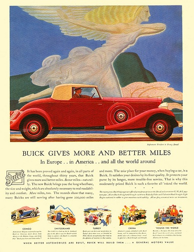 Art Deco advert for Buick cars 17