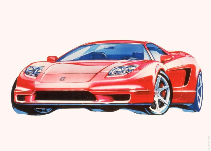 2002 Acura NSX sketches 4