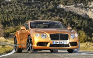 Gold Bentley 2012 Continental GT