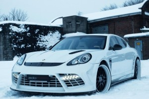 panamera white in snow