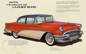 1955-buick-car-illustration-car-design – This was actually the second car I owned, with this color scheme, but blue and white