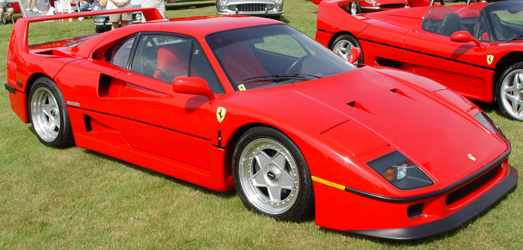 f40 red on green lawn 1