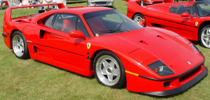 f40 red on green lawn