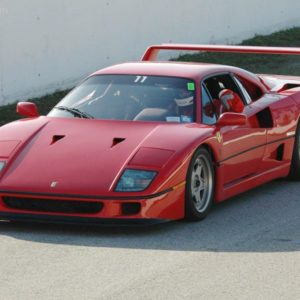 f40 red on road