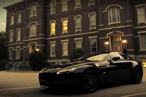 All Black Aston Martin Vantage.