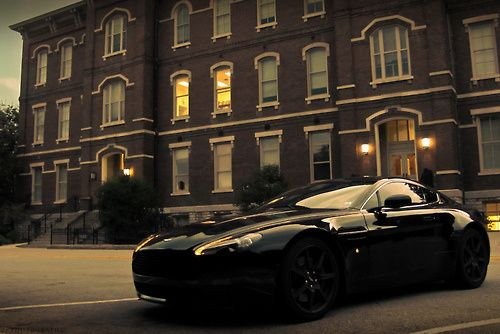 All Black Aston Martin Vantage. 4