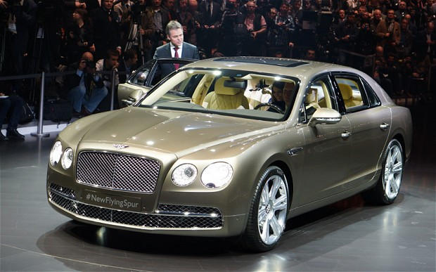 The Bentley Flying Spur at the 2013 Geneva motor show