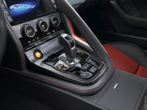 Inside view of 2015 Jaguar F-Type R Coupe