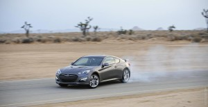 A speeding 2013 Hyundai Genesis Coupe