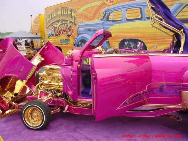Car with pure gold insides