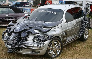 HR Giger Alien Car