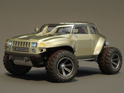This Hummer HB concept car looks better than most of the vehicles actually …