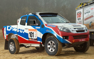 The new Isuzu Dakar D-Max rally car powerful pick-ups based on Isuzu D-Max