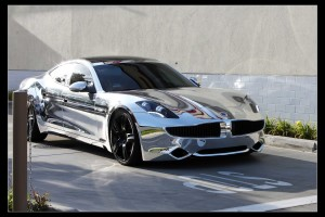 Chrome Electric Car – Fisker Karma