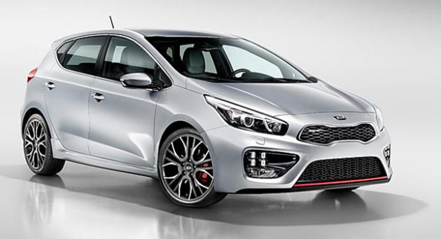 Kia shows off its five door model of its latest Cee'd GT series.  1