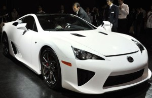 The new Lexus LF-A, a limited edition two-seater sports car